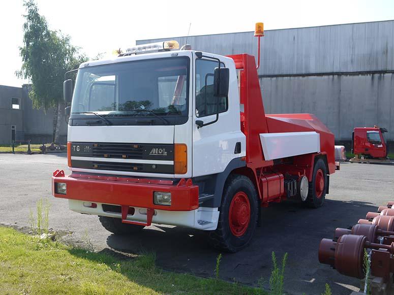 Herspuiten vrachgtwagen West-Vlaanderen